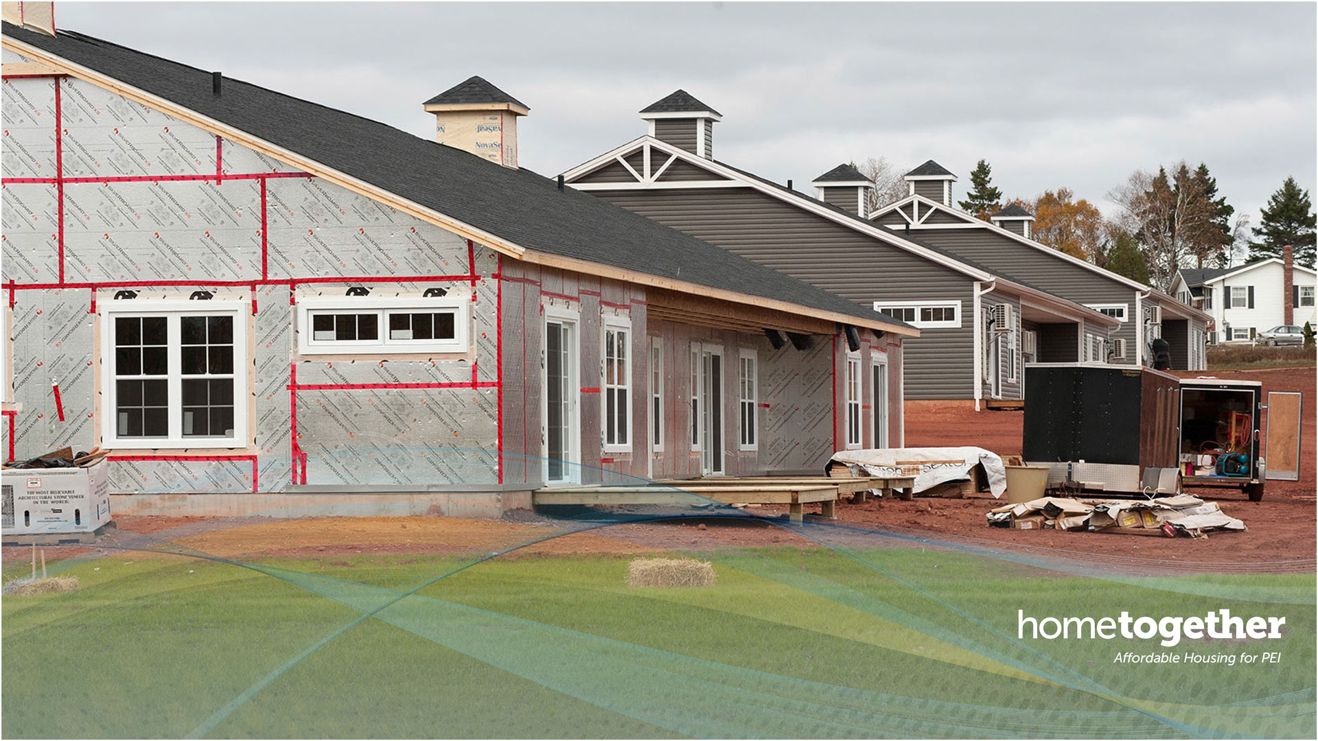 Image of home under construction on PEI, Home Together PEI